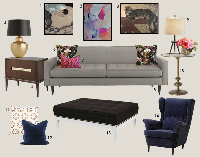 Living Room Dreams | Moodboard created by Christina Ebbers of Design-Vox.com