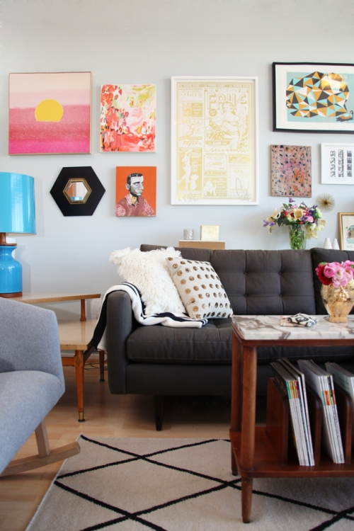 Eclectic Living Rooms | sweetthingblog.com | via Design-Vox.com