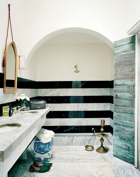 Super Stunning Showers | vogue.com | Featured on Design-Vox.com