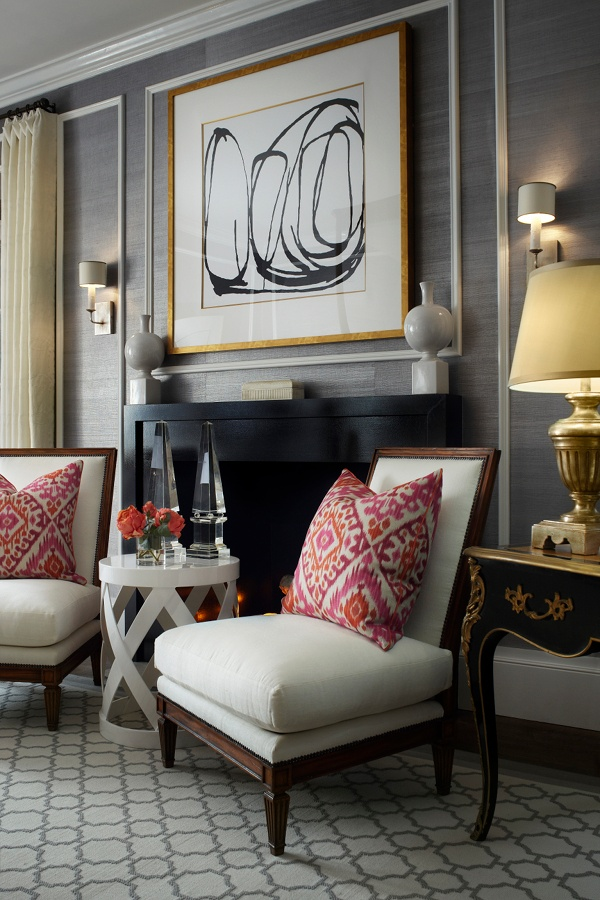 Pretty Patterned Decor | susankroeger.com | Featured on Design-Vox.com