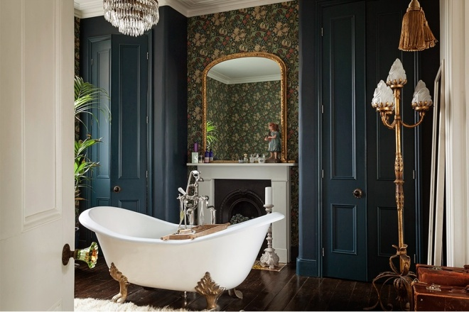 Dark Walled Bathrooms | 1st-option.com | design-vox.com