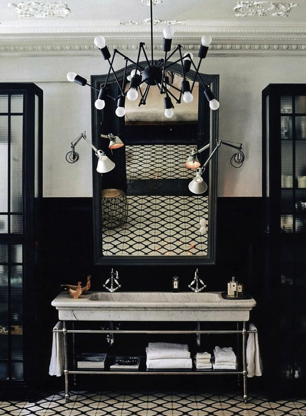 Dark Walled Bathrooms | design-vox.com