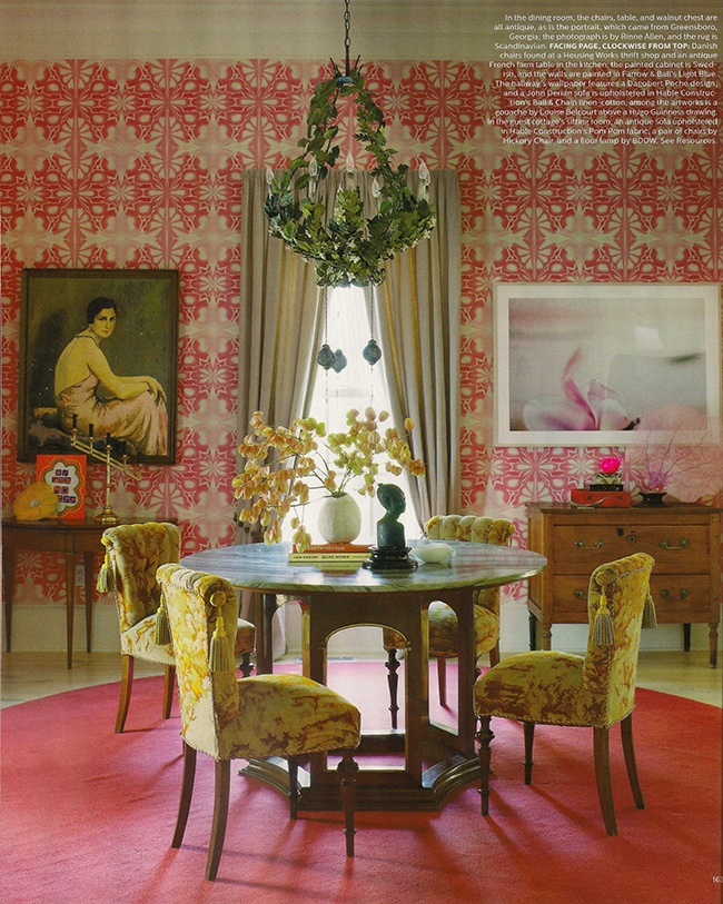 Pizzazz Inspiration for the Dining Room | elledecor.com | design-vox.com