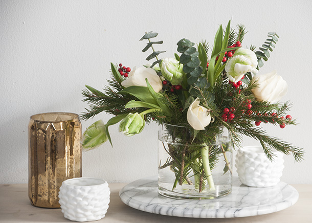 Christmas Floral Arrangement by House of Earnest