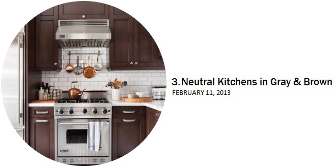 Neutral Kitchens in Gray & Brown