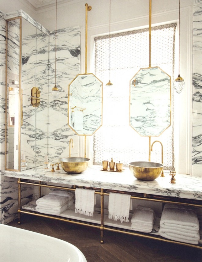 Super Glam Bathrooms | madduxcreative.com | design-vox.com