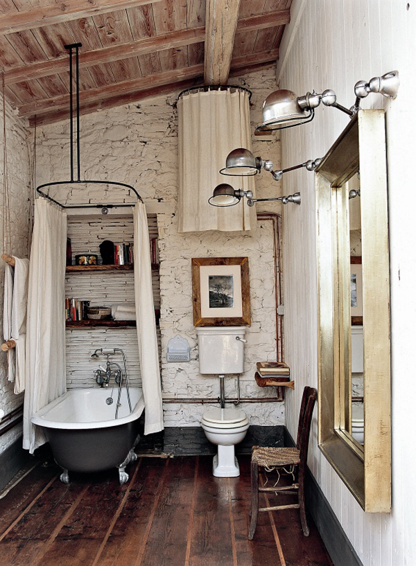 Wood Finishes in the Bathroom | design-vox.com