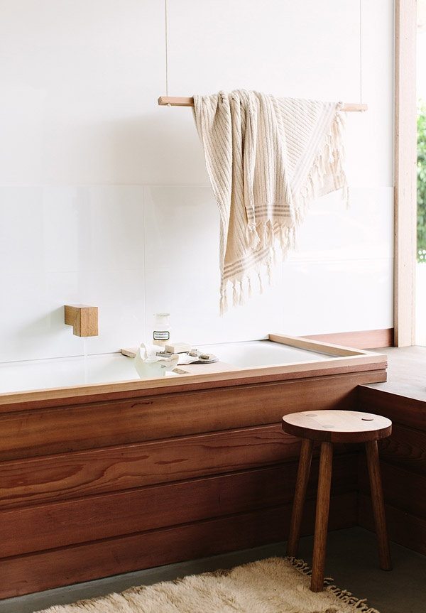 Wood Finishes in the Bathroom | thedesignfiles.net | design-vox.com
