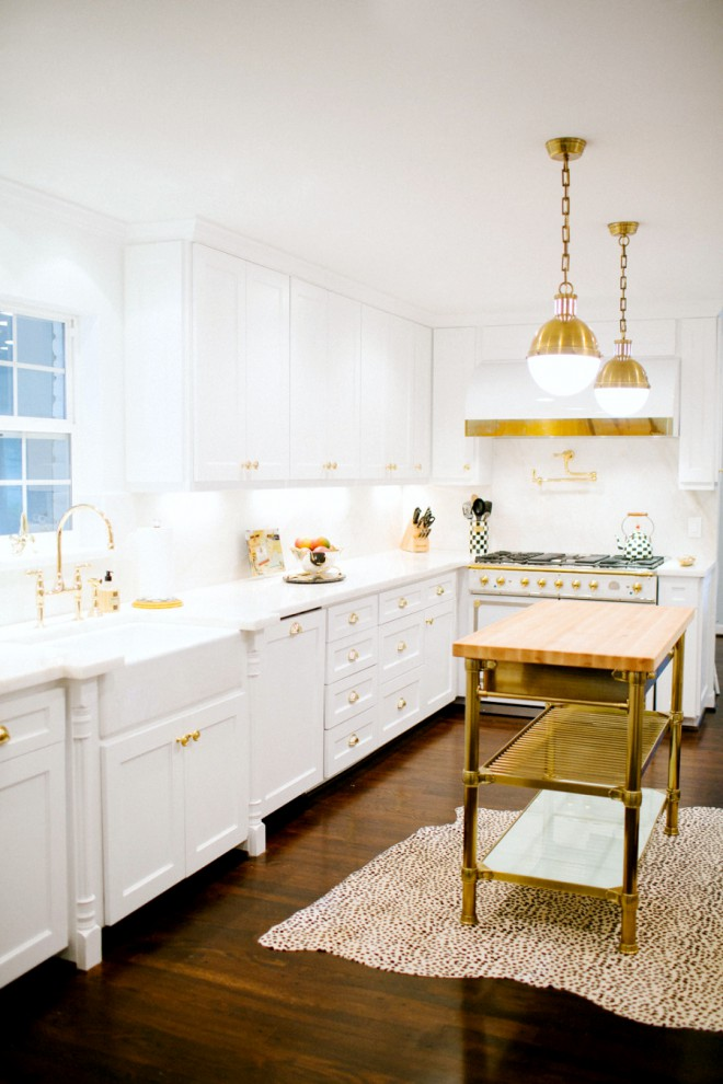 Glamorous White Kitchens | peppermintbliss.com | design-vox.com