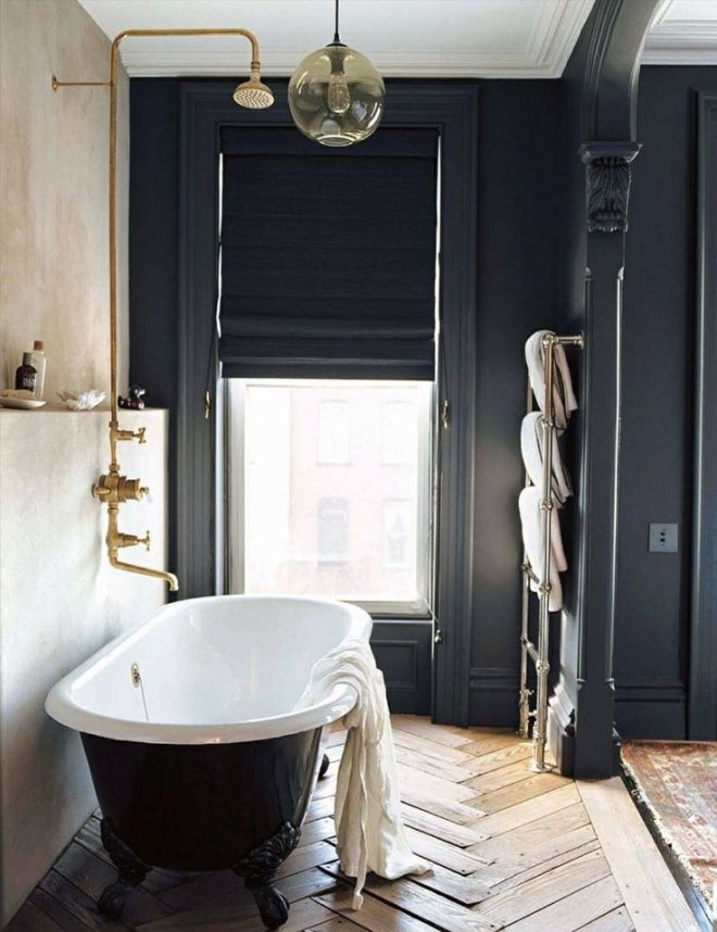 Weekend Mode with Dark and Cozy Bathrooms | melanieacevedo.com | design-vox.com