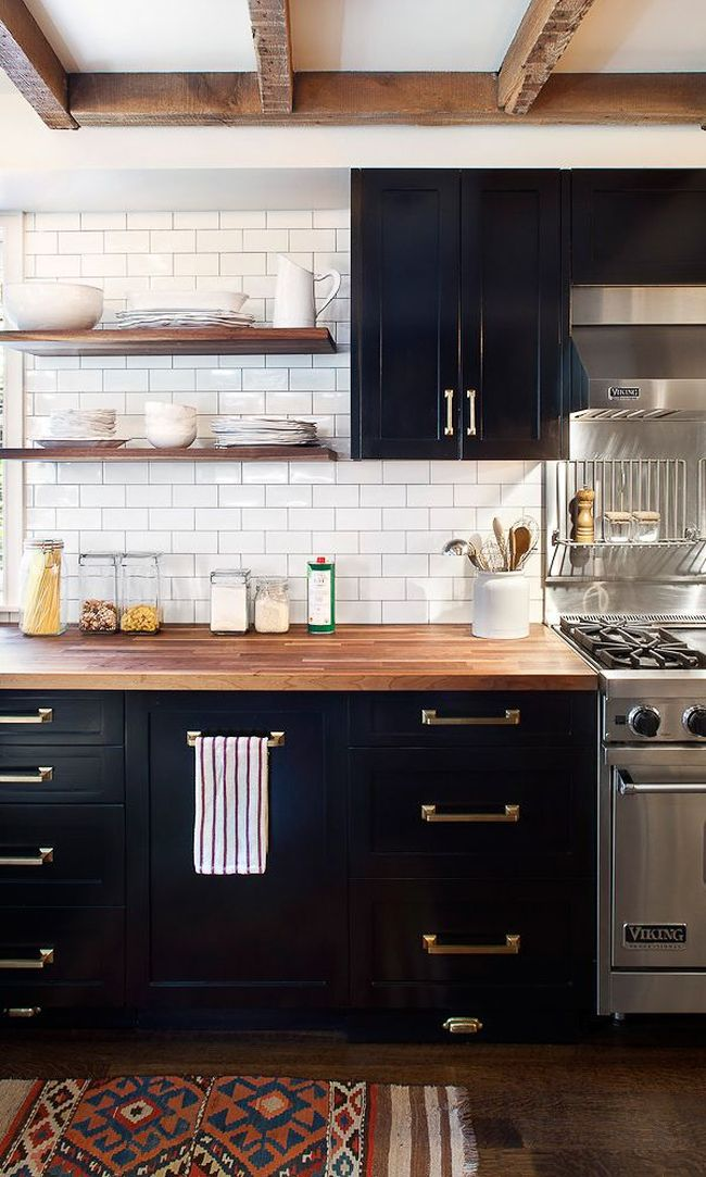 Black Kitchen Cupboards | blairharris.com | design-vox.com