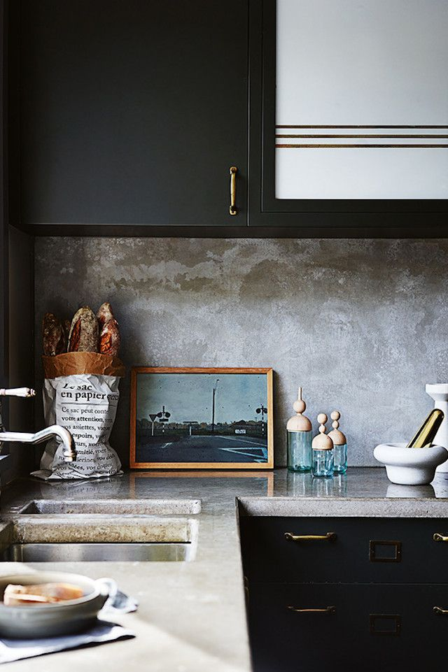 Black Kitchen Cupboards | clairedelmar.com.au | design-vox.com